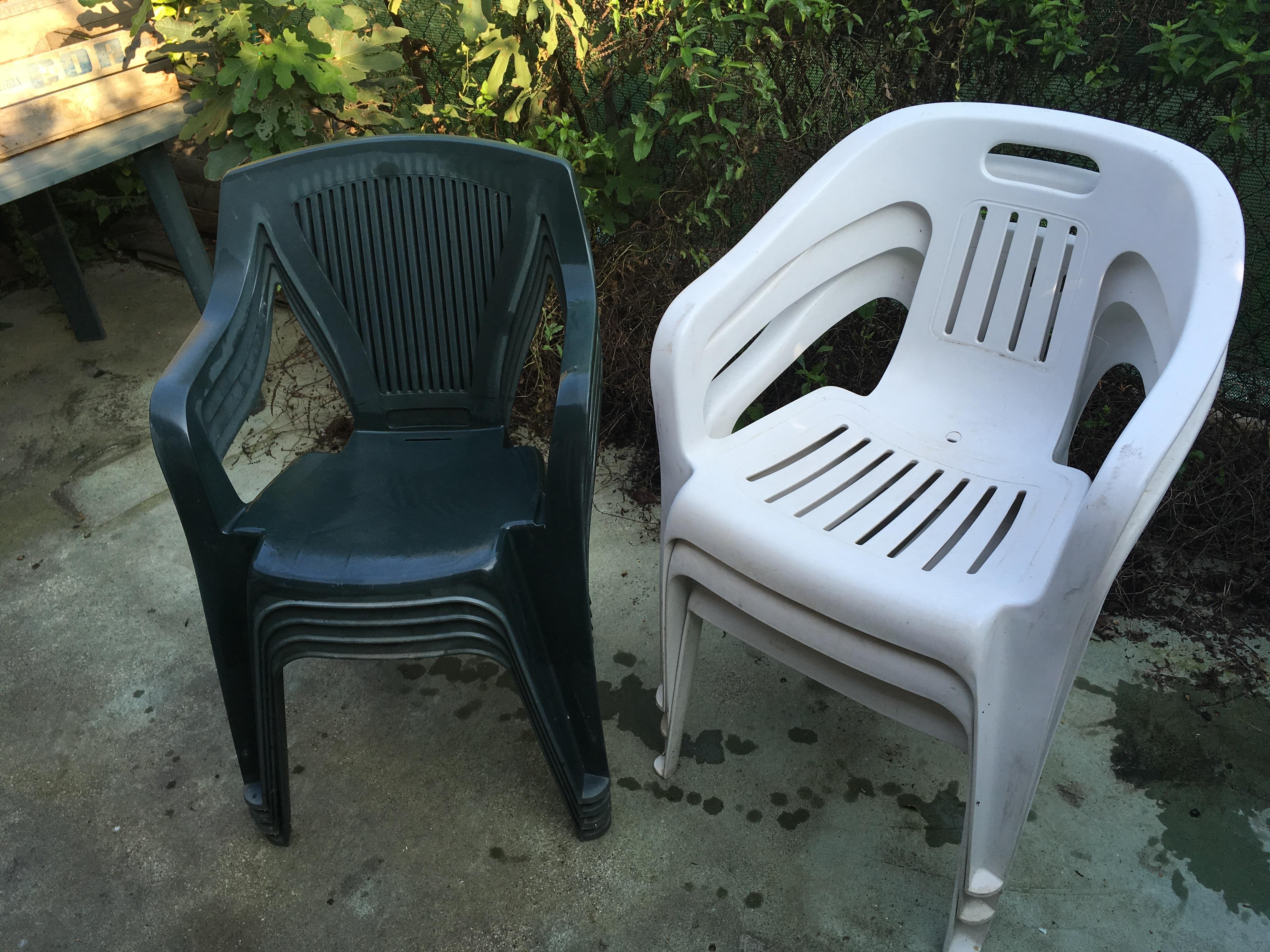 Sedie di plastica da giardino sedia in plastica con gambe in