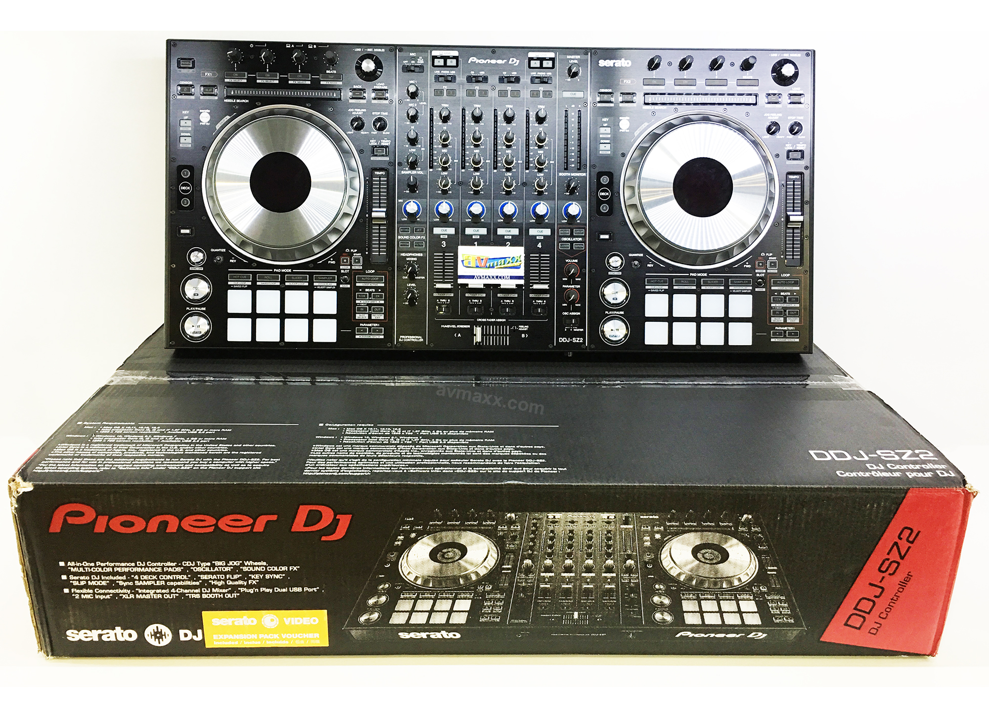 Pioneer DDJ-SZ2 Flagship 4-Channel Mixer & Serato DJ Controller with