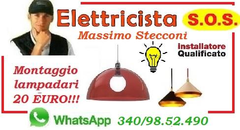 SOSTITUZIONE LAMPADARIO PRIMAVALLE MONTESACRO ROMA