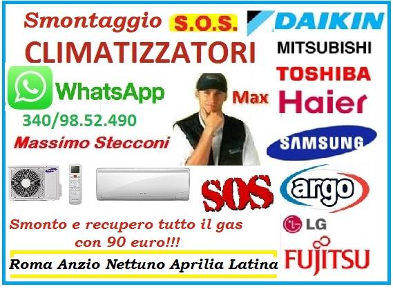 SMONTAGGIO CONDIZIONATORE FLAMINIO PARIOLI ROMA