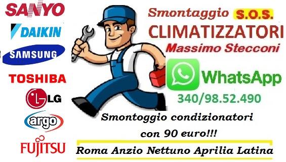 SMONTAGGIO CONDIZIONATORE TOR DI QUINTO ROMA
